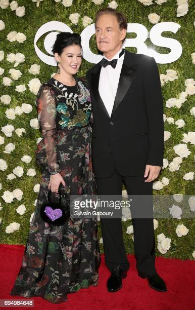 Actors Phoebe Cates and Kevin Kline attend the 2017 Tony Awards at Radio City Music Hall on June 11 2017 in New York City