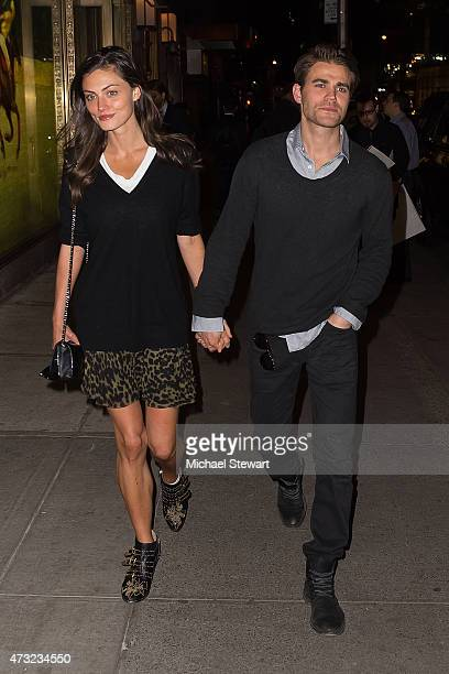 Actors Phoebe Tonkin and Paul Wesley seen on the streets of Manhattan on May 13 2015 in New York City