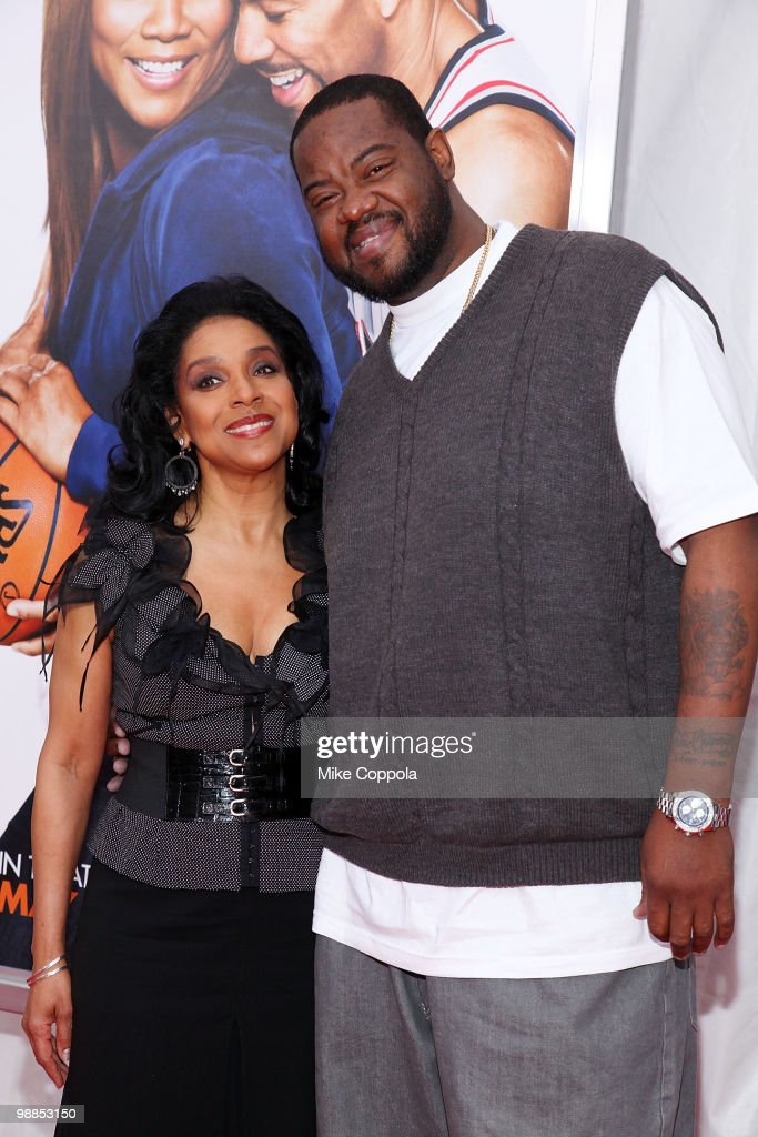 Actors Phylicia Rashad and Grizz Chapman attends the premiere of 'Just Wright' at Ziegfeld Theatre on May 4 2010 in New York City