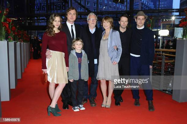 Actors Picco von Groote Lars Eidinger Ernst Stoetzner Corinna Harfouch director HansChristian Schmid and actor Sebastian Zimmler attend the 'Was...