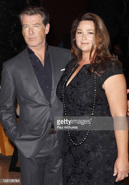 Actors Pierce Brosnan and his wife Keely Shaye Smith arrive at the Los Angeles premiere of 'The Greatest' at Linwood Dunn Theater at the Pickford...