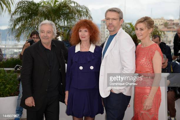 Actors Pierre Arditi Sabine Azema Lambert Wilson and Anne Consigny pose at the 'Vous N'avez Encore Rien Vu' Photocall during the 65th Annual Cannes...