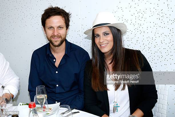 Actors Pierre Rochefort and Elsa Tovati attend the 2015 Roland Garros French Tennis Open Day Three on May 26 2015 in Paris France