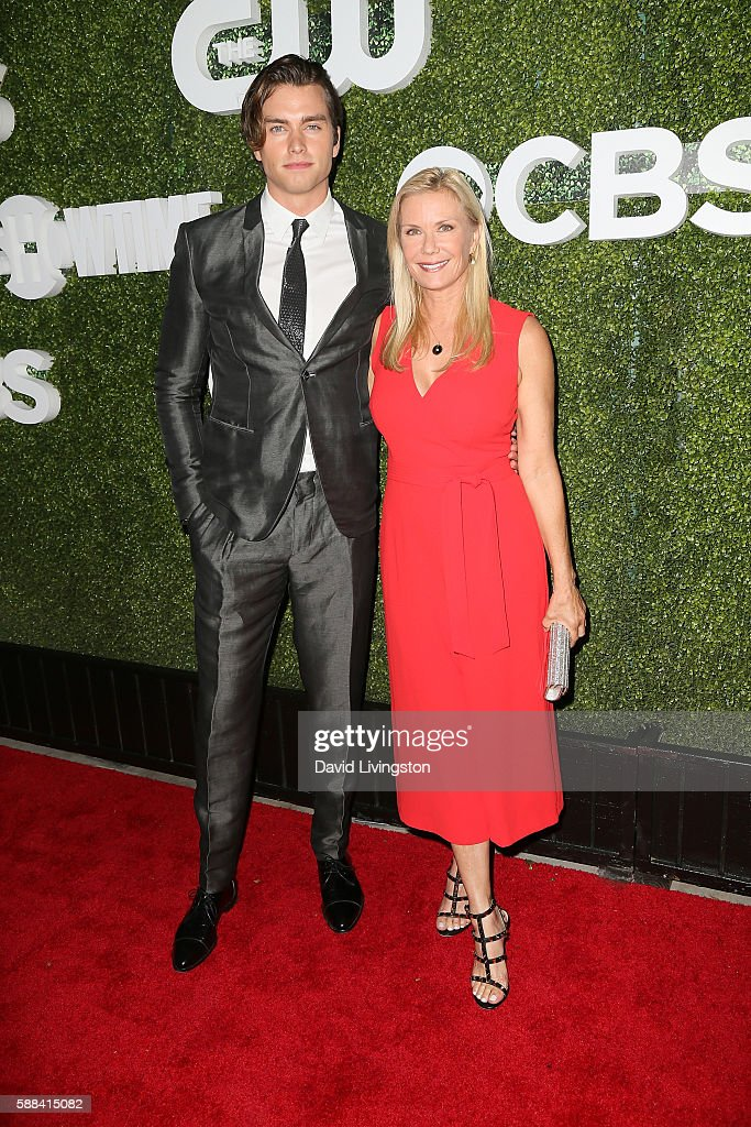 Actors Pierson Fode and Katherine Kelly Lang arrive at the CBS, CW, Showtime Summer TCA Party at the Pacific Design Center on August 10, 2016 in West Hollywood, California.