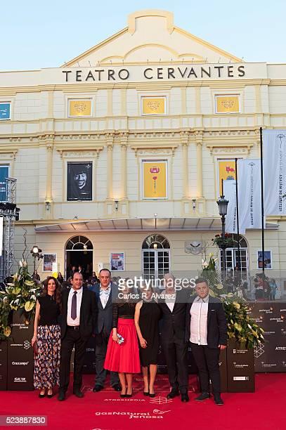 Actors Pilar Lopez de Ayala Karra Elejalde Fernando Albizu director Manuela Burlo Carmen Machi Rafa Odorrika and Cristopher Torres attend 'Rumbos'...