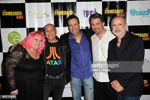 Actors Pinky Coogan Keith Coogan Gabriel Jarret Jeremy Miller and Dean Cameron arrives for 'The Comeback Kids' Los Angeles Special Screening held at...