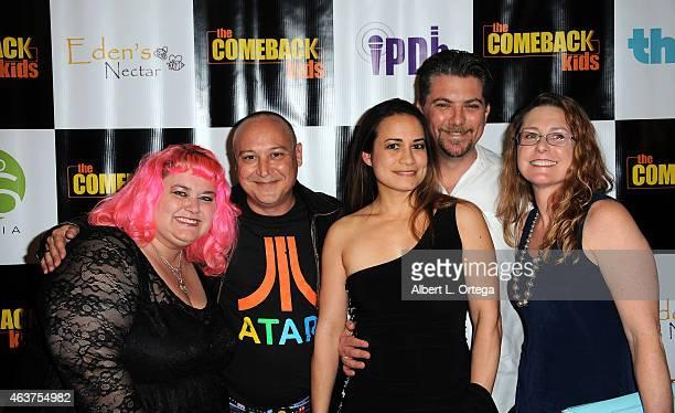 Actors Pinky Coogan Keith Coogan Jeremy Miller and Katy Kurtzman arrive for 'The Comeback Kids' Los Angeles Special Screening held at Landmark...