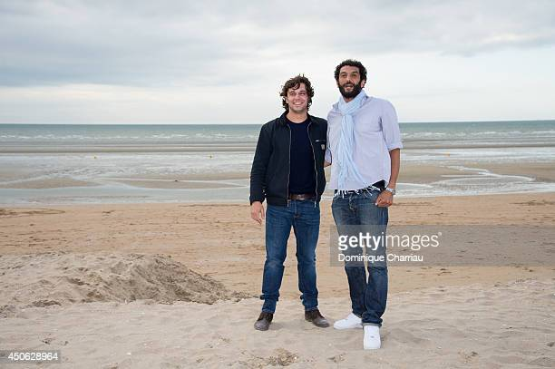 Actors Pio Marmai and Ramzy pose for a photocall during the 28th Cabourg Film Festival Day 4 on June 14 2014 in Cabourg France