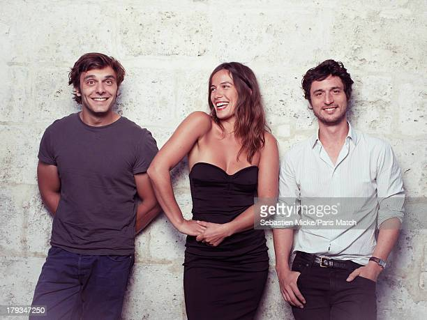 Actors Pio Marmai Zoe Felix and Jeremie Elkaim are photographed for Paris Match on August 24 2013 in Angouleme France