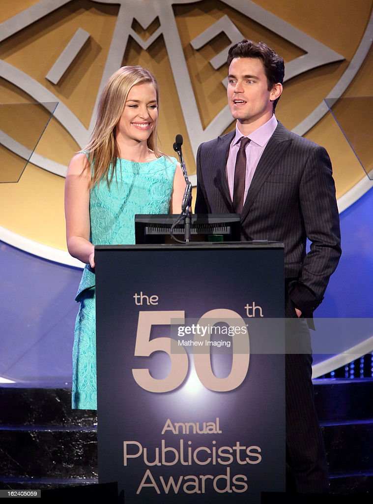 Actors Piper Perabo and Matt Bomer attend the 50th Annual ICG Publicists Awards which took place at The Beverly Hilton Hotel on February 22, 2013 in Beverly Hills, California.