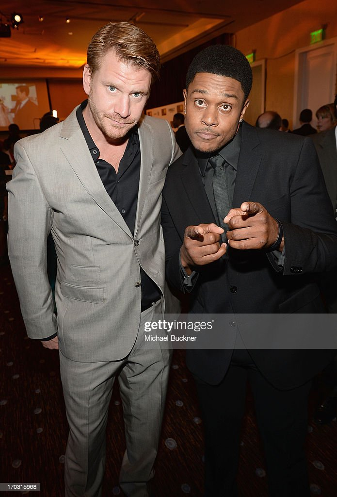 Actors <a gi-track='captionPersonalityLinkClicked' href=/galleries/search?phrase=Pooch+Hall&family=editorial&specificpeople=879951 ng-click='$event.stopPropagation()'>Pooch Hall</a> (R) and Dash Mihok attend Broadcast Television Journalists Association's third annual Critics' Choice Television Awards at The Beverly Hilton Hotel on June 10, 2013 in Los Angeles, California.