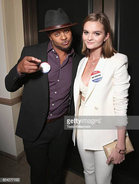 Actors Pooch Hall and Kerris Dorsey attend the For Your Consideration screening and panel for Showtime's 'Ray Donovan' at Paramount Theatre on April...