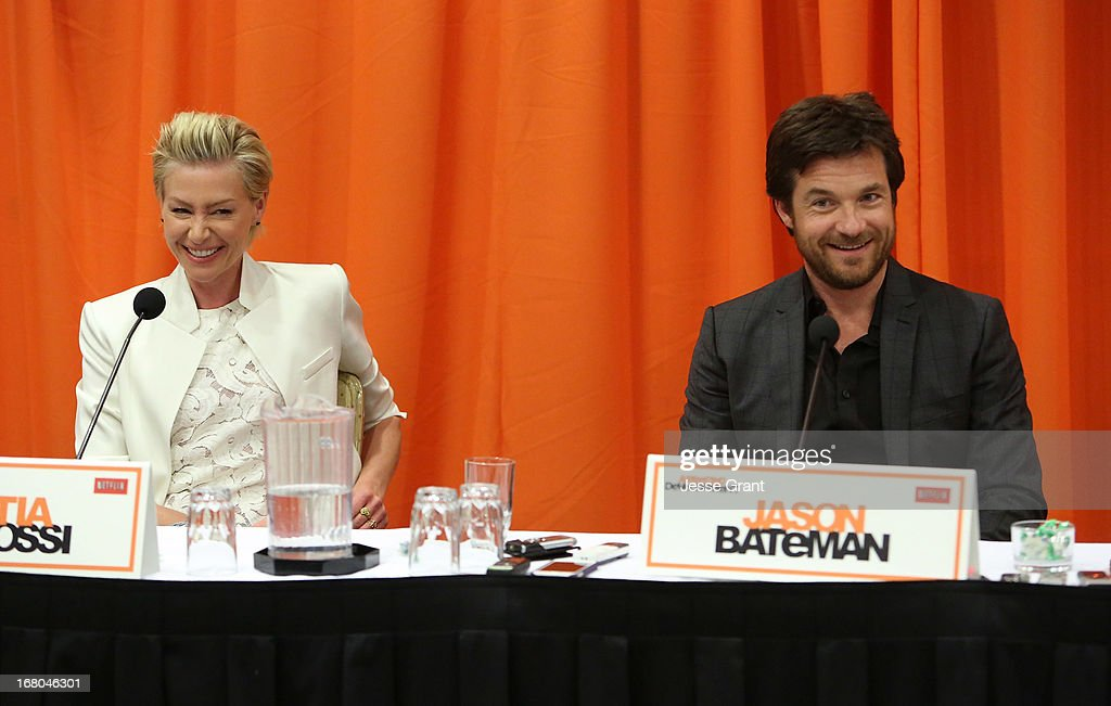 Actors Portia de Rossi and Jason Bateman attend The Netflix Original Series 'Arrested Development' Press Conference at Sheraton Universal on May 4, 2013 in Universal City, California.