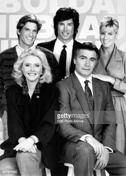 Actors portraying the members of the Forrester family the principal clan on the television soap opera 'The Bold and the Beautiful' pose for a...