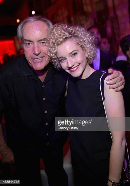 Actors Powers Boothe and Julia Garner attend the after party for 'SIN CITY A DAME TO KILL FOR' premiere presented by Dimension Films in partnership...