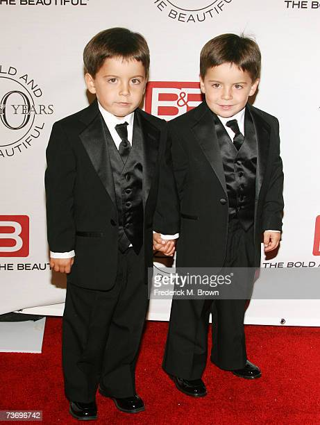 Actors Preston and Trevor Shores attend 'The Bold And The Beautiful' gala celebrating the show's 20 year anniversary on the air at Two Rodeo Drive on...