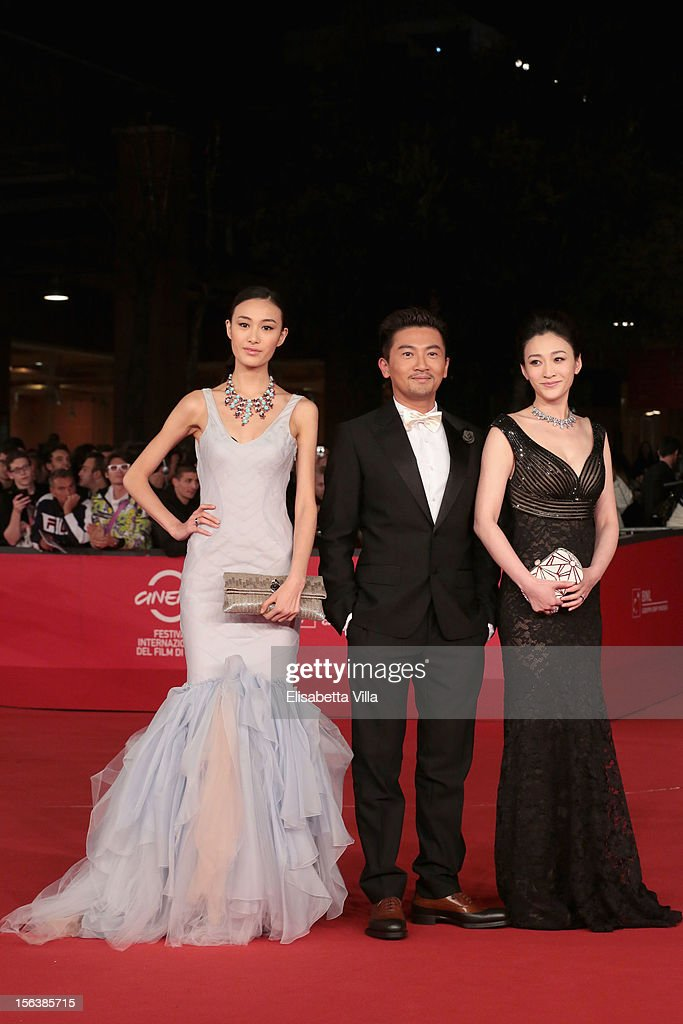Actors Qin Shu Pei, Su You Peng and Li Xiaoran attend the 'Bullets To The Head' Premiere during the 7th Rome Film Festival at the Auditorium Parco Della Musica on November 14, 2012 in Rome, Italy.