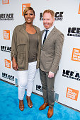 Actors Queen Latifah Jesse Tyler Ferguson attends the 'Ice Age Collision Course' New York screening at Walter Reade Theater on July 7 2016 in New...