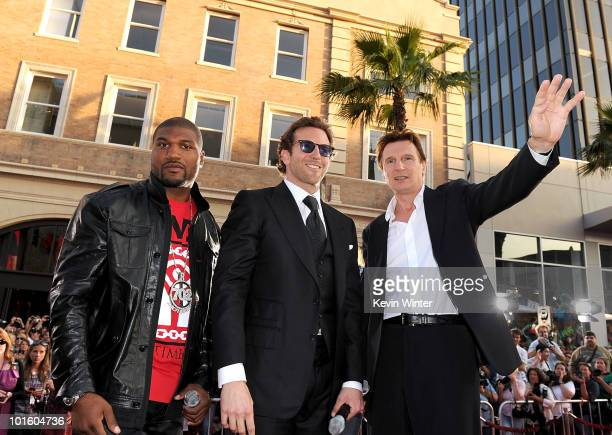 Actors Quinton 'Rampage' Jackson Bradley Cooper and Liam Neeson arrive at the premiere of 20th Century Fox's 'The ATeam' held at Grauman's Chinese...
