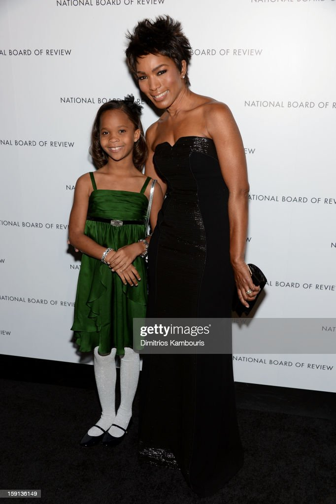 Actors Quvenzhane Wallis and <a gi-track='captionPersonalityLinkClicked' href=/galleries/search?phrase=Angela+Bassett&family=editorial&specificpeople=171174 ng-click='$event.stopPropagation()'>Angela Bassett</a> attend the 2013 National Board Of Review Awards Gala at Cipriani 42nd Street on January 8, 2013 in New York City.