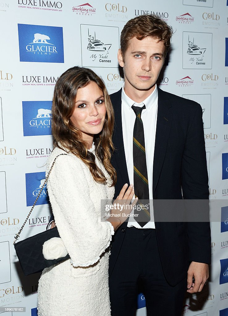 Actors Rachel Bilson and Hayden Christensen attend the Glacier Films launch party hosted by Hayden C and Michael Saylor aboard the Yacht Harle on May 19, 2013 in Cannes, France.