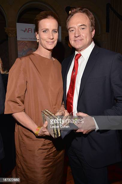 Actors Rachel Griffiths and Bradley Whitford attend the after party for the premiere of Walt Disney Pictures' 'Saving Mr Banks' during AFI FEST 2013...