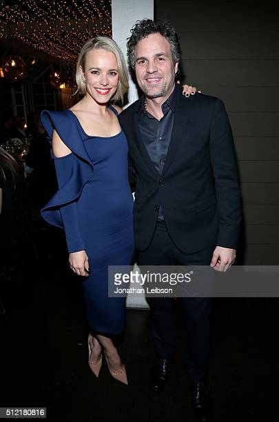 Actors Rachel McAdams and Mark Ruffalo attend Vanity Fair and Barneys New York Private Dinner Celebrating 'Spotlight' Director Tom McCarthy at...