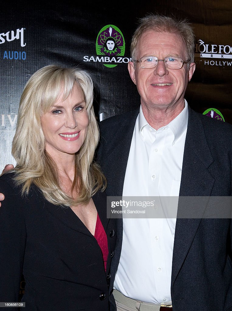 Actors Rachelle Carson and <a gi-track='captionPersonalityLinkClicked' href=/galleries/search?phrase=Ed+Begley+Jr.&family=editorial&specificpeople=208850 ng-click='$event.stopPropagation()'>Ed Begley Jr.</a> attend The Grammy Awards: Whole Planet Foundation pre-Grammy benefit concert at East West Recording Studio on February 6, 2013 in Hollywood, California.