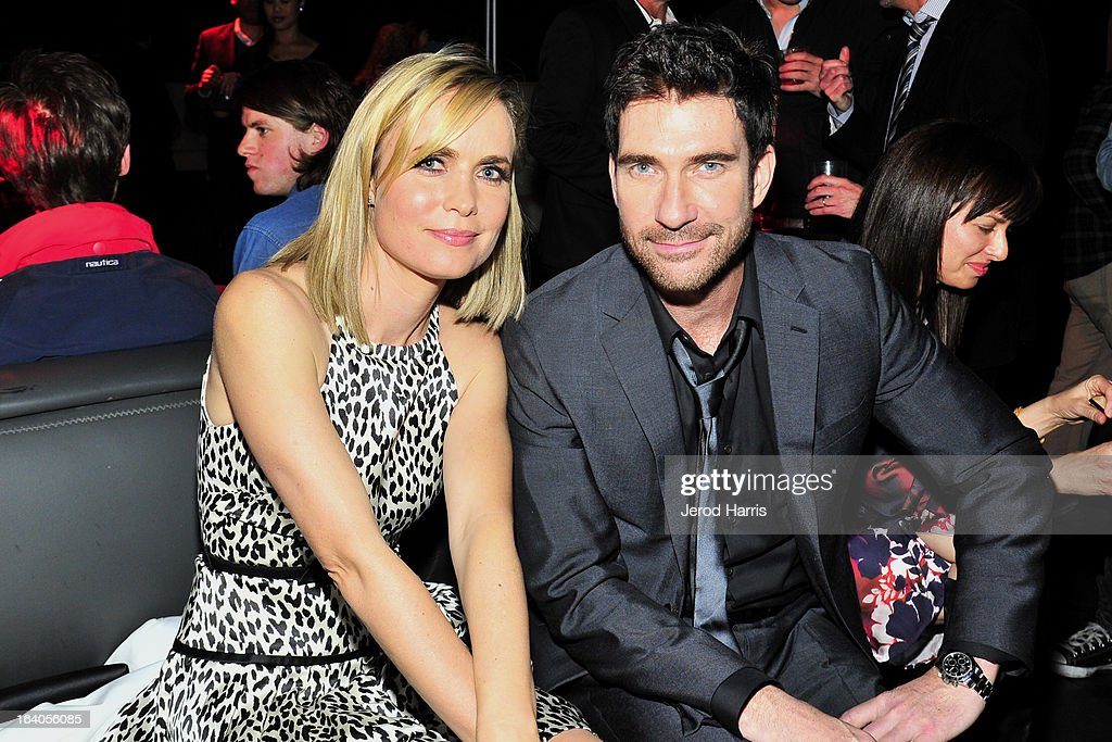 Actors Radha Mitchelll and Dylan McDermott attend 'Olympus Has Fallen' Premiere Reception presented by Grey Goose Vodka at Lure on March 18, 2013 in Hollywood, California.