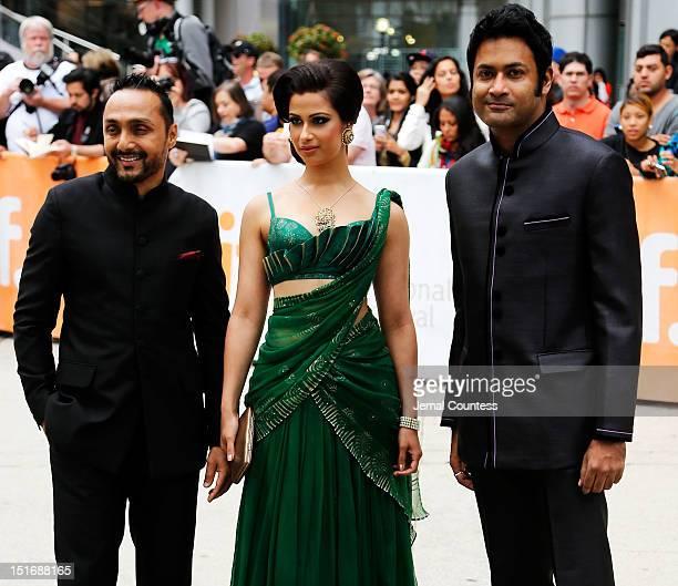 Actors Rahul Bose Anita Majumdar and Samrat Chakrabarti arrive at the 'Midnight's Children' Premiere at the 2012 Toronto International Film Festival...