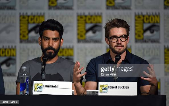 Actors Rahul Kohli and Robert Buckley attend the 'iZombie' special video presentation and QA during ComicCon International 2015 at the San Diego...