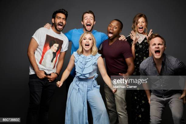 Actors Rahul Kohli Robert Buckley Rose McIver Malcolm Goodwin Aly Michalka and David Anders from iZombie are photographed for Entertainment Weekly...
