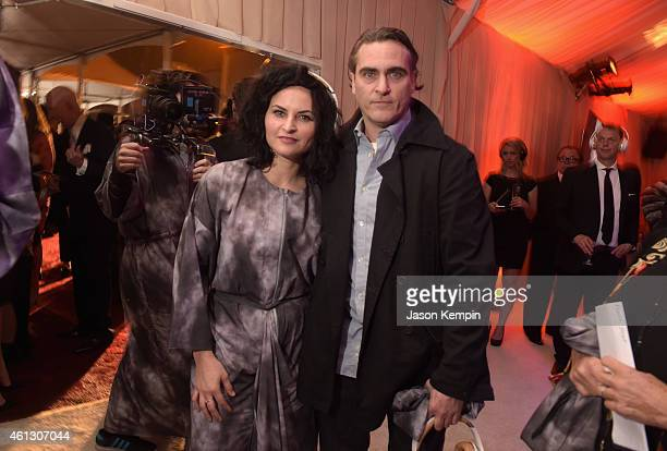 Actors Rain Phoenix and Joaquin Phoenix attend the 8th Annual HEAVEN Gala presented by Art of Elysium and Samsung Galaxy at Hangar 8 on January 10...