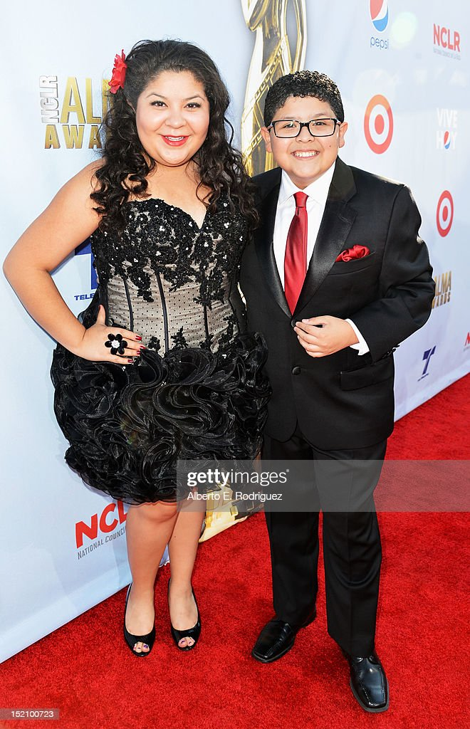 Actors Raini Alena Rodriguez and Rico Rodriguez arrive at the 2012 NCLR ALMA Awards at Pasadena Civic Auditorium on September 16, 2012 in Pasadena, California.