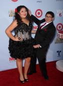 Actors Raini Rodriguez and Rico Rodriguez arrive at the 2012 NCLR ALMA Awards at Pasadena Civic Auditorium on September 16 2012 in Pasadena California