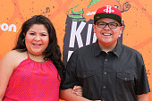 Actors Raini Rodriguez and Rico Rodriguez arrive at the Nickelodeon Kids' Choice Sports Awards 2016 at the UCLA's Pauley Pavilion on July 14 2016 in...