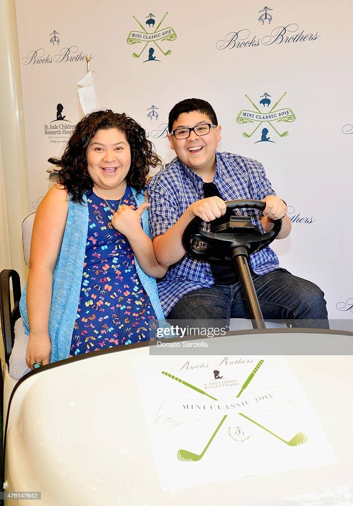 Actors Raini Rodriguez and Rico Rodriguez attend Brooks Brothers MINI CLASSIC Golf Tournament to benefit St Jude Children's Research Hospital at...