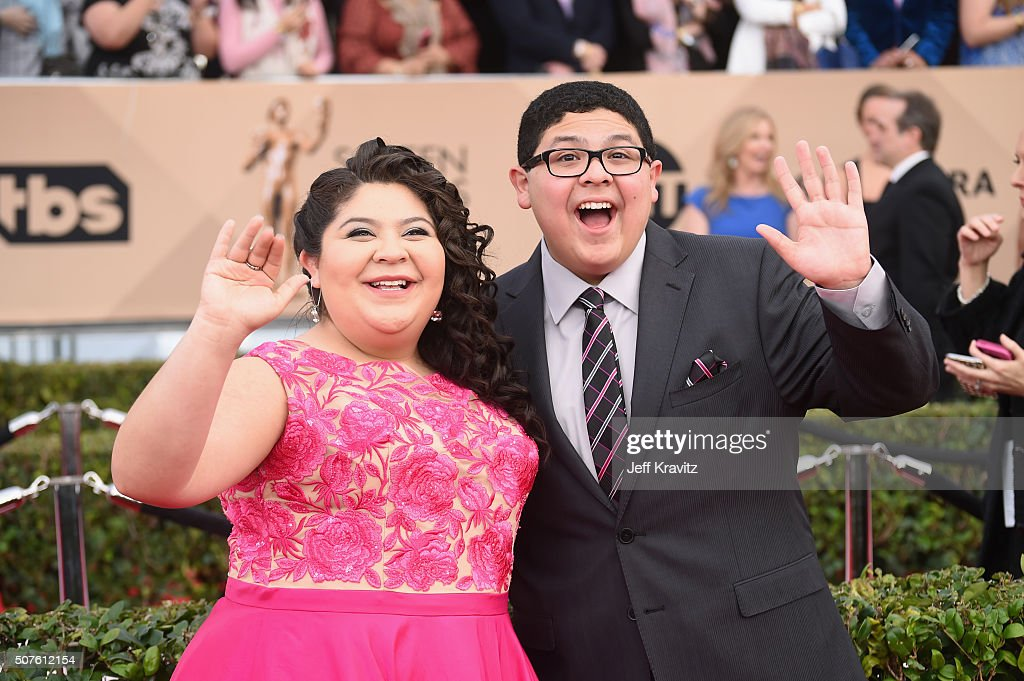 Actors Raini Rodriguez and Rico Rodriguez attend the 22nd Annual Screen Actors Guild Awards at The Shrine Auditorium on January 30 2016 in Los...