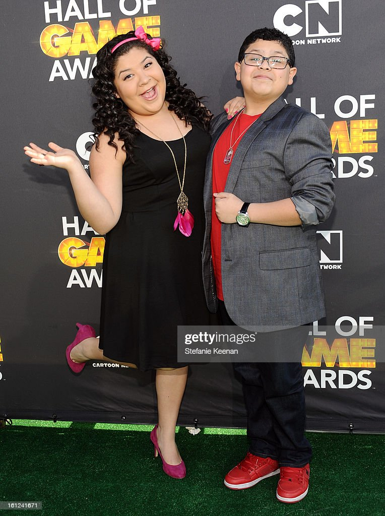 Actors Raini Rodriguez and Rico Rodriguez attend the Third Annual Hall of Game Awards hosted by Cartoon Network at Barker Hangar on February 9, 2013 in Santa Monica, California. 23270_002_SK_0679.JPG