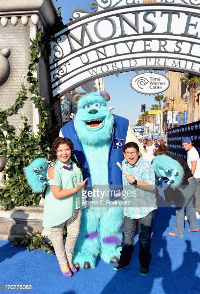 Actors Raini Rodriguez and Rico Rodriguez attend The World Premiere Tailgate Party for DisneyPixar's 'Monsters University' at the El Capitan Theatre...