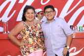 Actors Raini Rodriguez and Rico Rodriguez attend Variety's Power of Youth presented by Hasbro Inc and generationOn at Universal Studios Backlot on...