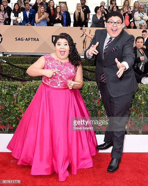 Actors Raini Rodriguez and Rico Rodriguez attends the 22nd Annual Screen Actors Guild Awards at The Shrine Auditorium on January 30 2016 in Los...