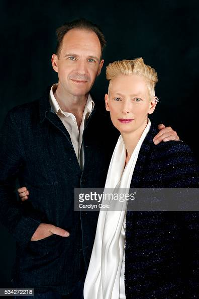 Actors Ralph Fiennes and Tilda Swinton of 'A Bigger Splash' are photographed for Los Angeles Times on April 21 2016 in New York City PUBLISHED IMAGE...