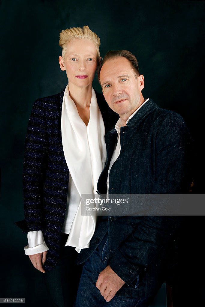 Actors Ralph Fiennes and Tilda Swinton of 'A Bigger Splash' are photographed for Los Angeles Times on April 21, 2016 in New York City. PUBLISHED IMAGE.