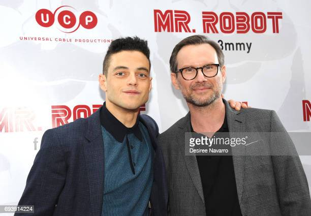 Actors Rami Malek and Christian Slater attend 'Mr Robot' FYC Screening at The Metrograph on June 8 2017 in New York City