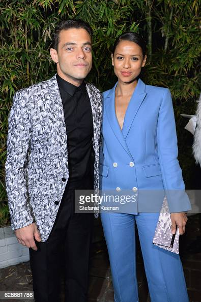 Actors Rami Malek and Gugu MbathaRaw attend the 2016 GQ Men of the Year Party at Chateau Marmont on December 8 2016 in Los Angeles California