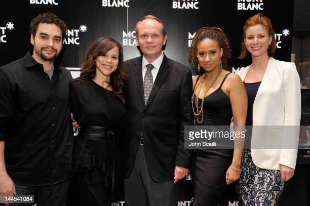 Actors Ramon Rodriguez Rosie Perez Montblanc North America CEO JanPatrick Schmitz actors Tracie Thoms and Diane Neal attend the 2nd Annual Montblanc...