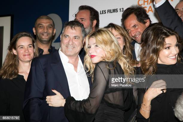Actors Ramzy Bedia JeanMarie Bigard Jean Dujardin Lola Marois Julie Ferrier Stephane de Groodt and Nadia fares attend the 'Chacun sa vie' Premiere at...