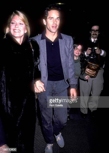 Actors Randi Oakes and Gregory Harrison attend the ' 'Night of 100' Stars Rehearsals' on February 16 1985 at Radio City Music Hall in New York City...
