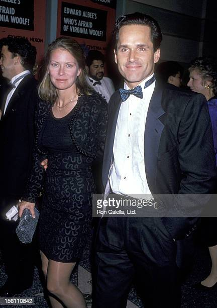 Actors Randi Oakes and Gregory Harrison attend the 'Virginia Woolf' Opening Night Performance on October 5 1989 at James A Doolittle in Hollywood...